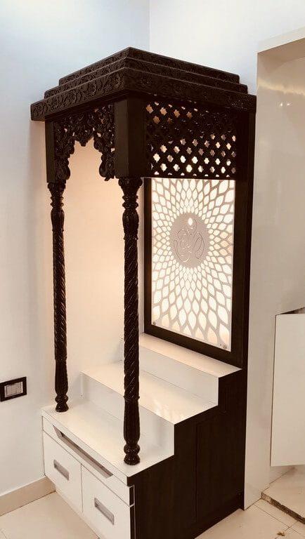 Pooja room: Simple interior design ideas pooja room - Pooja room Simple interior design ideas 2 434x768 - Pooja room: Simple interior design ideas