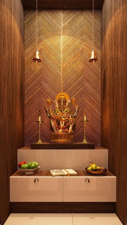 Pooja room: Simple interior design ideas pooja room - Pooja room Simple interior design ideas 4 - Pooja room: Simple interior design ideas