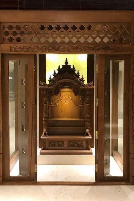 Pooja room: Simple interior design ideas pooja room - Pooja room Simple interior design ideas 6 512x768 - Pooja room: Simple interior design ideas