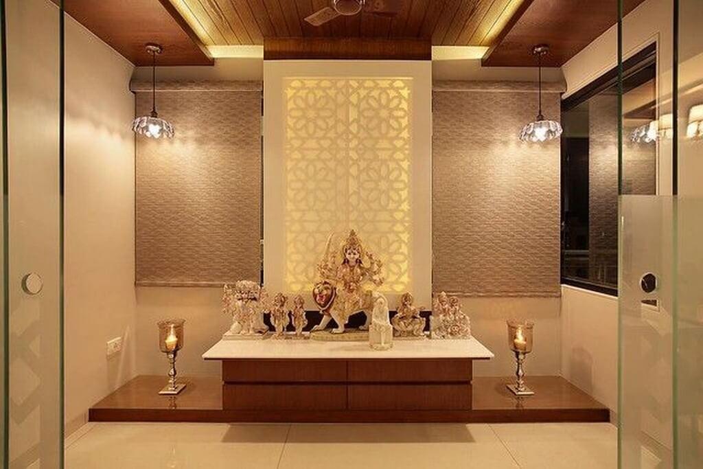 Pooja room: Simple interior design ideas pooja room - Pooja room Simple interior design ideas 7 - Pooja room: Simple interior design ideas