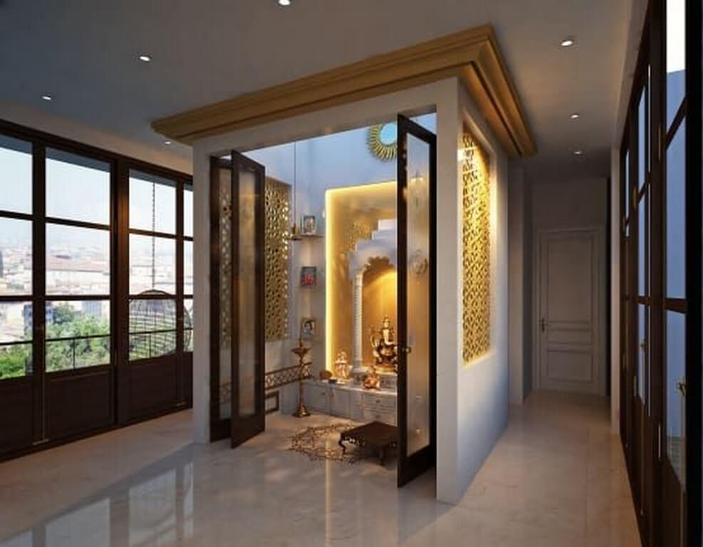 Pooja room: Simple interior design ideas pooja room - Pooja room Simple interior design ideas 8 - Pooja room: Simple interior design ideas