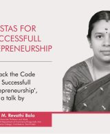 Vistas for Entrepreneurship: CONV. CONVERSATIONS with Dr. M Revathi Bala