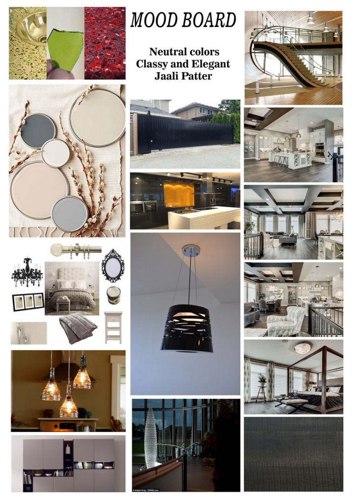 MOOD BOARD  - MOOD BOARD 724x1024 - JD ANNUAL DESIGN AWARDS 2016 – UNTOLD STORIES – DEPT OF INTERIOR DESIGN – BY LALITHA SINGH, VIKSHITHA AND AKSHATA GUTTEDAR– INSPIRED BY ARTIST SRINIVAS
