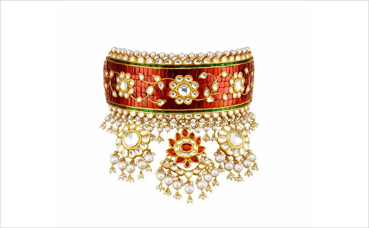 Aadh and Rani haar created by Tanishq for the movie - Padmavati padmavati jewellery - gems of rajasthan Padmavati Jewellery – Gems of Rajasthan – Samanvita Gnanesh aadh