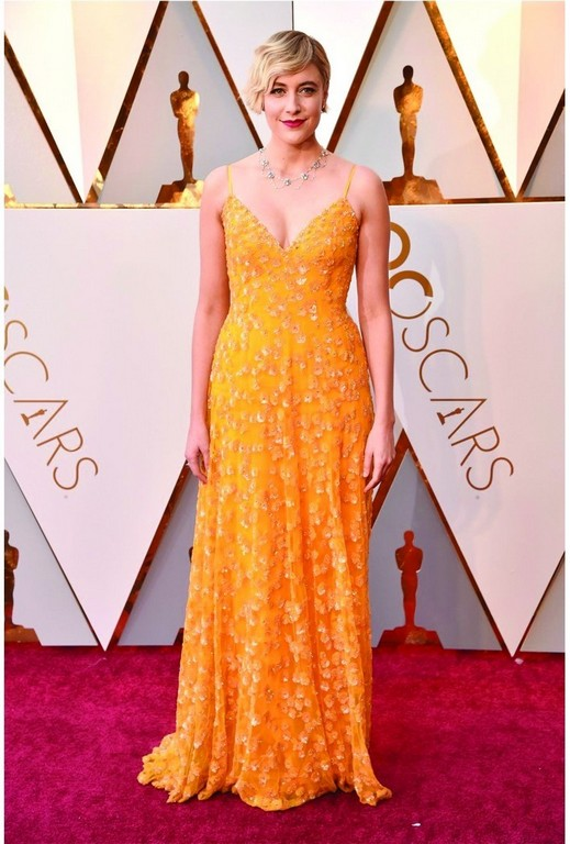 best dressed at the oscar 2018 red carpet - Greata Gerwig - Best dressed at the Oscar 2018 Red Carpet