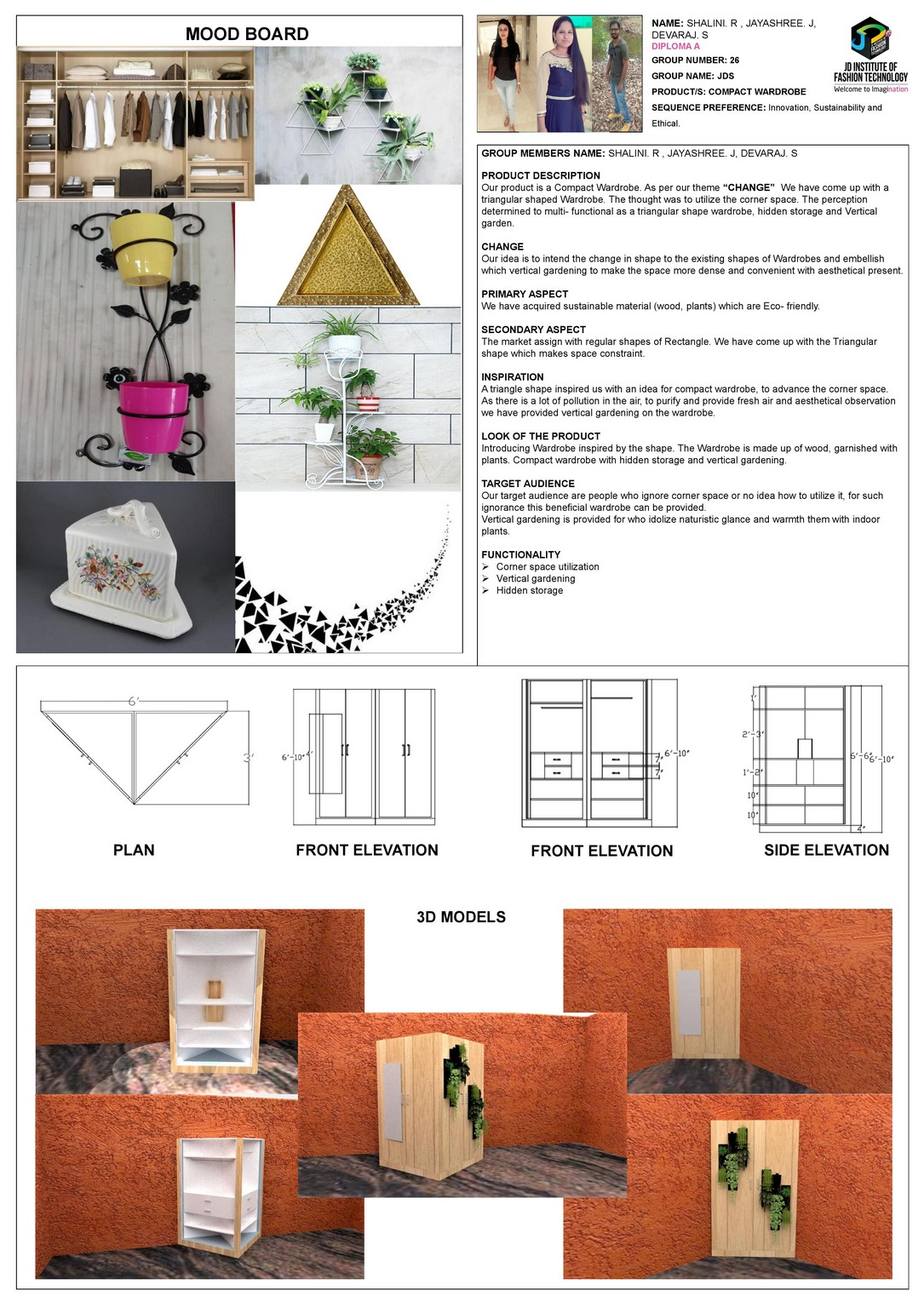 Compact wardrobe – CHANGE – JD ANNUAL DESIGN AWARDS 2018 | Designer: Jayashree J, Devaraj S and Shalini R | Photography : Jerin Nath (@jerin_nath) compact wardrobe Compact wardrobe – Change – JD Annual Design Awards 2018 compact wordrobe1
