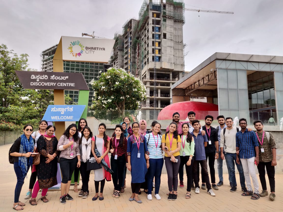 jd institute - Nikoo 6 - JD Institute – Interior Students at Bhartiya City | Industrial Visit