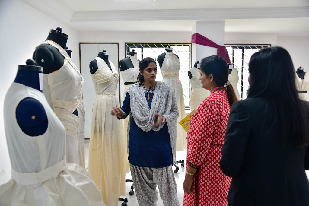 Dreams fold into Drapes | Fashion Draping exhibition at JD Institute dreams fold into drapes - DSC1318 - Dreams fold into Drapes | Fashion Draping exhibition at JD Institute
