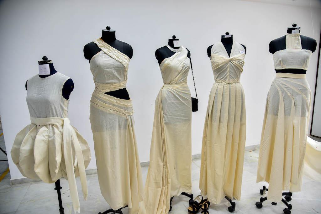 Dreams fold into Drapes | Fashion Draping exhibition at JD Institute dreams fold into drapes - DSC1324 - Dreams fold into Drapes | Fashion Draping exhibition at JD Institute