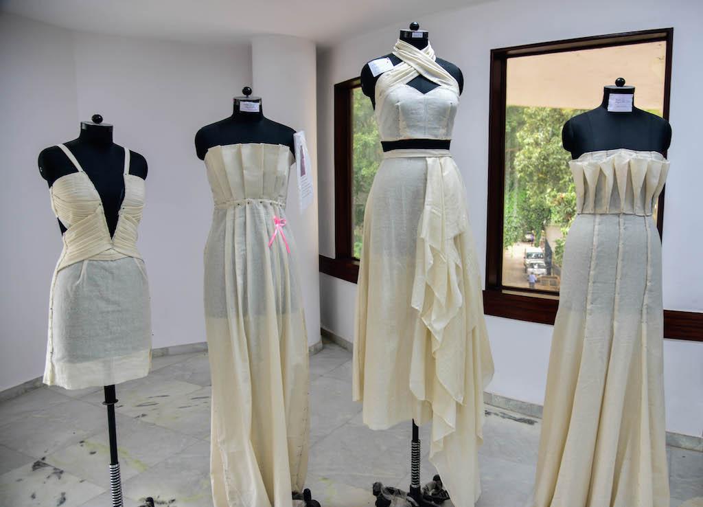 Dreams fold into Drapes | Fashion Draping exhibition at JD Institute dreams fold into drapes - DSC1335 - Dreams fold into Drapes | Fashion Draping exhibition at JD Institute