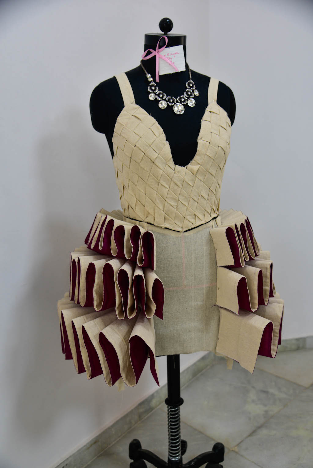 Dreams fold into Drapes | Fashion Draping exhibition at JD Institute dreams fold into drapes - DSC1384 - Dreams fold into Drapes | Fashion Draping exhibition at JD Institute