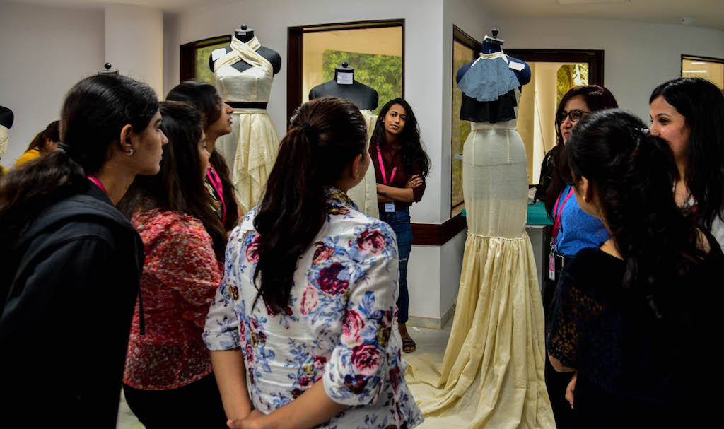 Dreams fold into Drapes | Fashion Draping exhibition at JD Institute dreams fold into drapes - DSC1456 - Dreams fold into Drapes | Fashion Draping exhibition at JD Institute