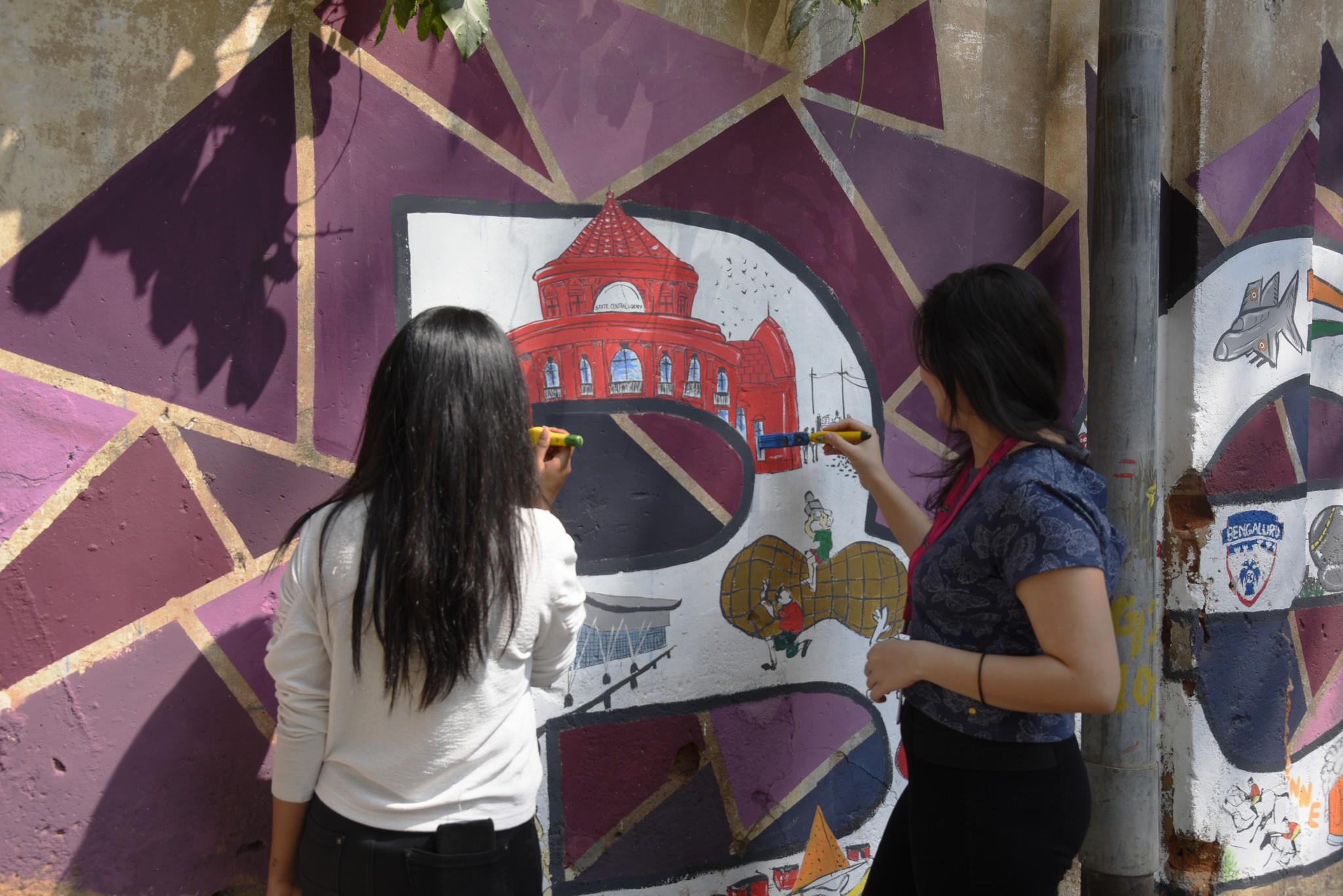 Namma Bengaluru – Wall art by students of JD Institute namma bengaluru - Namma Bengaluru 3 - Namma Bengaluru – Wall art by students of JD Institute