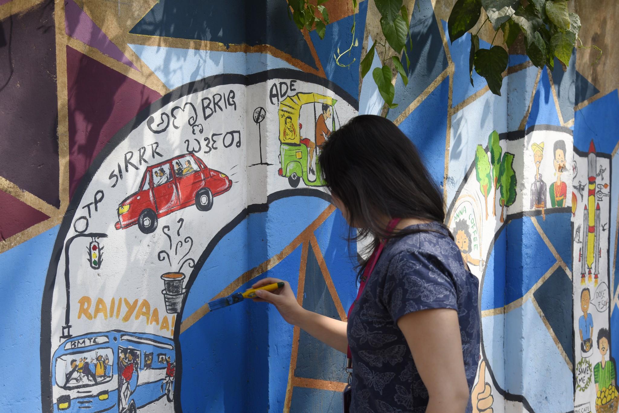 Namma Bengaluru – Wall art by students of JD Institute namma bengaluru - Namma Bengaluru 4 - Namma Bengaluru – Wall art by students of JD Institute