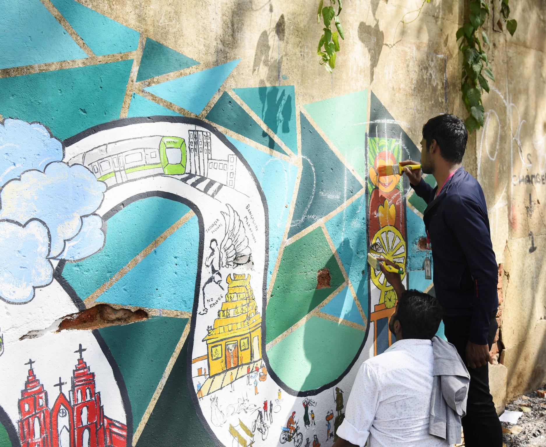 Namma Bengaluru – Wall art by students of JD Institute namma bengaluru - Namma Bengaluru 5 - Namma Bengaluru – Wall art by students of JD Institute