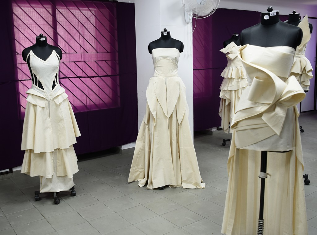 Fashion Design Students creating wonders fashion design students - Draping 9 - Fashion Design Students creating wonders by folding and pinning the fabrics | Draping Exhibition