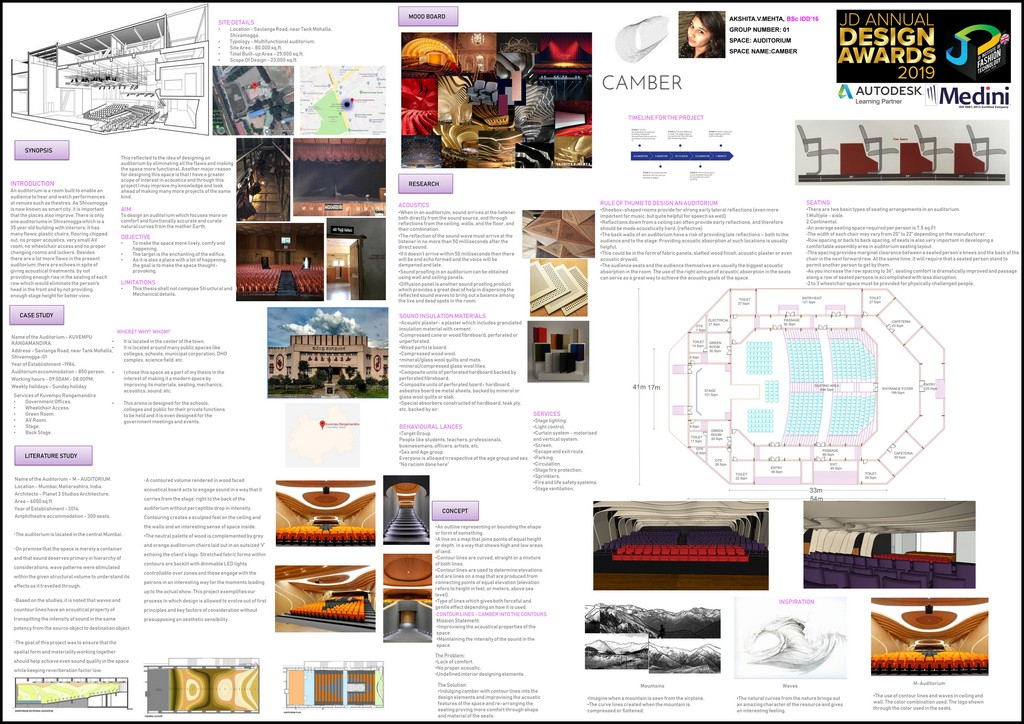 Auditorium auditorium Auditorium – Curator – JD Annual Design Awards 2019 – Interior Design 1