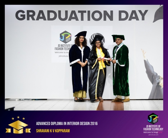 JD Institute Holds Graduation Ceremony for its Diploma and Post Graduate Students Advance Diploma In Interior Design 8