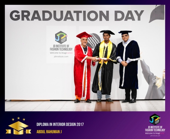 JD Institute Holds Graduation Ceremony for its Diploma and Post Graduate Students Diploma In Interior Design 2
