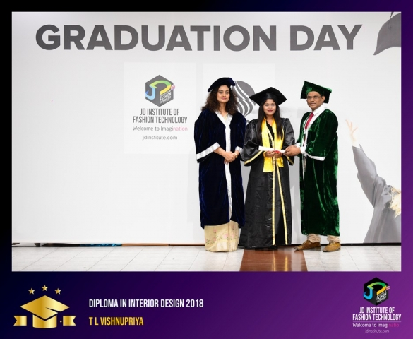 JD Institute Holds Graduation Ceremony for its Diploma and Post Graduate Students Diploma In Interior Design 60