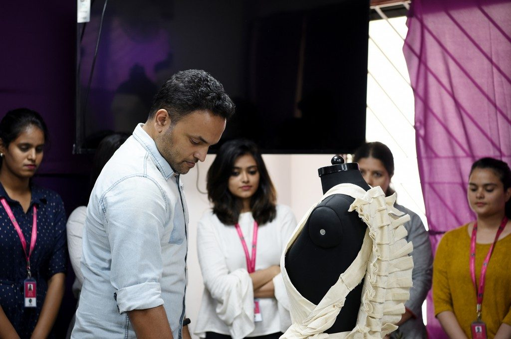 - Draping 10 1024x680 - Fashion Design Students creating wonders by folding and pinning the fabrics | Draping Exhibition