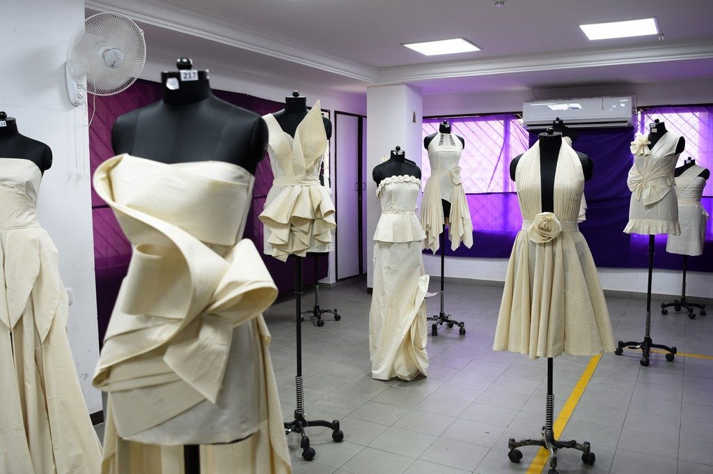- Draping 7 1024x680 - Fashion Design Students creating wonders by folding and pinning the fabrics | Draping Exhibition