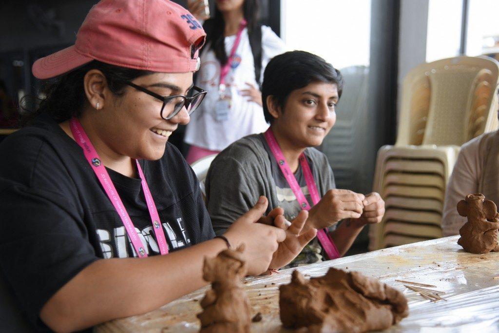 jediiians - Jediiians Go Green this Ganesh Chaturthi 8 1024x683 - Jediiians Go Green this Ganesh Chaturthi: Clay Workshop at JD Institute
