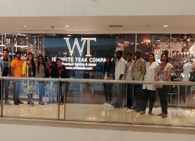white teak lighting studio Interior Design Students pay visit to The White Teak Lighting Studio   JD Institute id 1 650x469