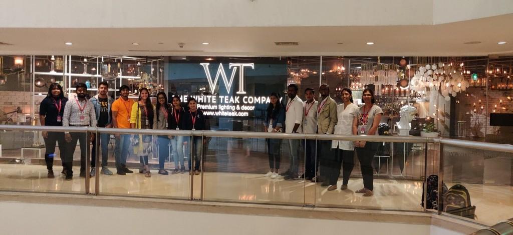white teak lighting studio Interior Design Students pay visit to The White Teak Lighting Studio | JD Institute id 1