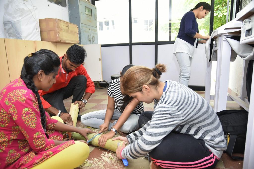 bamboo workshop - Bamboo workshop by Jigna Bhadeshiya 1 - Bamboo workshop by Jigna Bhadeshiya – Jewellery Design Department