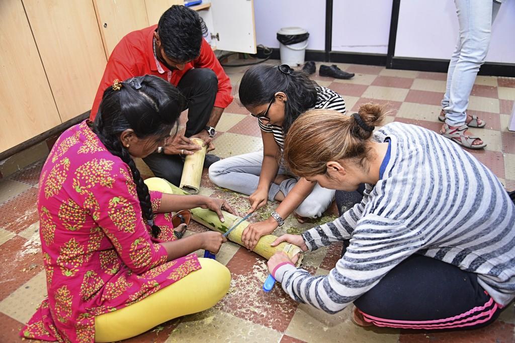 bamboo workshop - Bamboo workshop by Jigna Bhadeshiya 2 - Bamboo workshop by Jigna Bhadeshiya – Jewellery Design Department