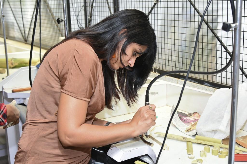 bamboo workshop - Bamboo workshop by Jigna Bhadeshiya 8 - Bamboo workshop by Jigna Bhadeshiya – Jewellery Design Department