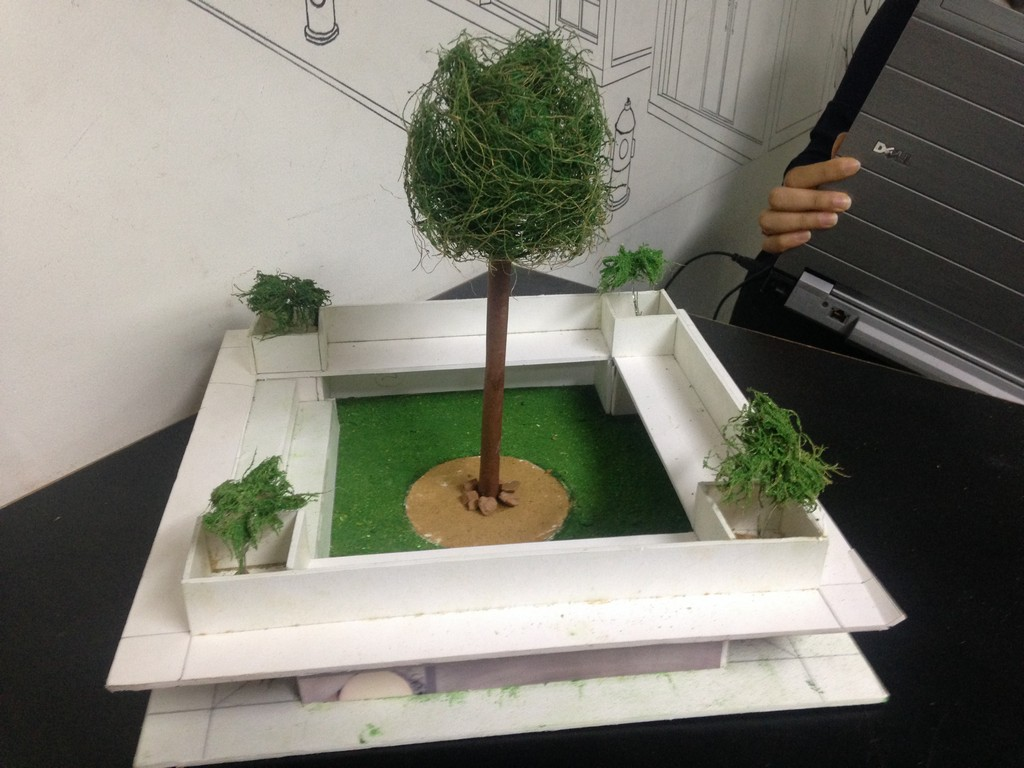 landscape model making Landscape Model Making – Advance Diploma in Interior Design Bijeta and Rahul 5