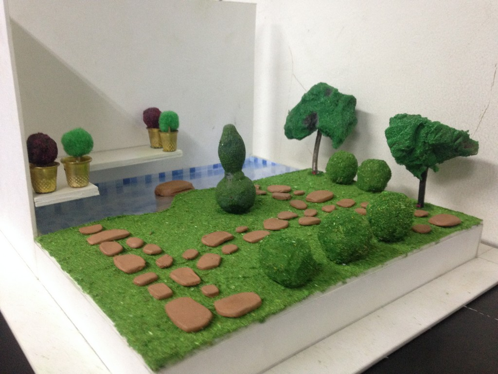 landscape model making Landscape Model Making – Advance Diploma in Interior Design Linda Vinay 2