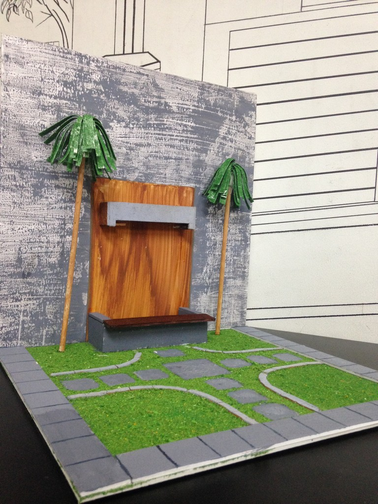 landscape model making Landscape Model Making – Advance Diploma in Interior Design Sharath Shrenik 7