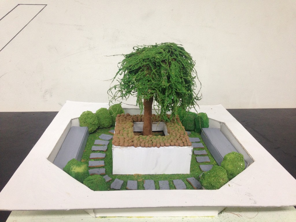 landscape model making Landscape Model Making – Advance Diploma in Interior Design Shreya Vidushi 13
