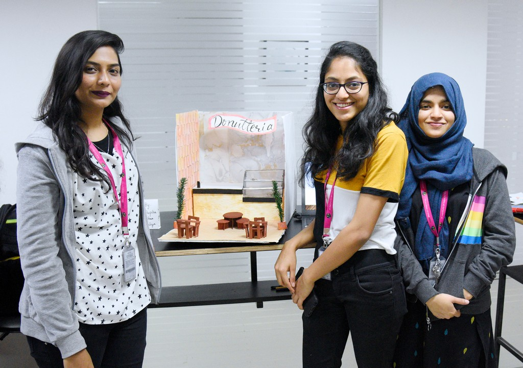 students of interior design display miniature retail space layouts STUDENTS OF INTERIOR DESIGN DISPLAY MINIATURE RETAIL SPACE LAYOUTS STUDENTS OF INTERIOR DESIGN DISPLAY MINIATURE RETAIL SPACE LAYOUTS 2