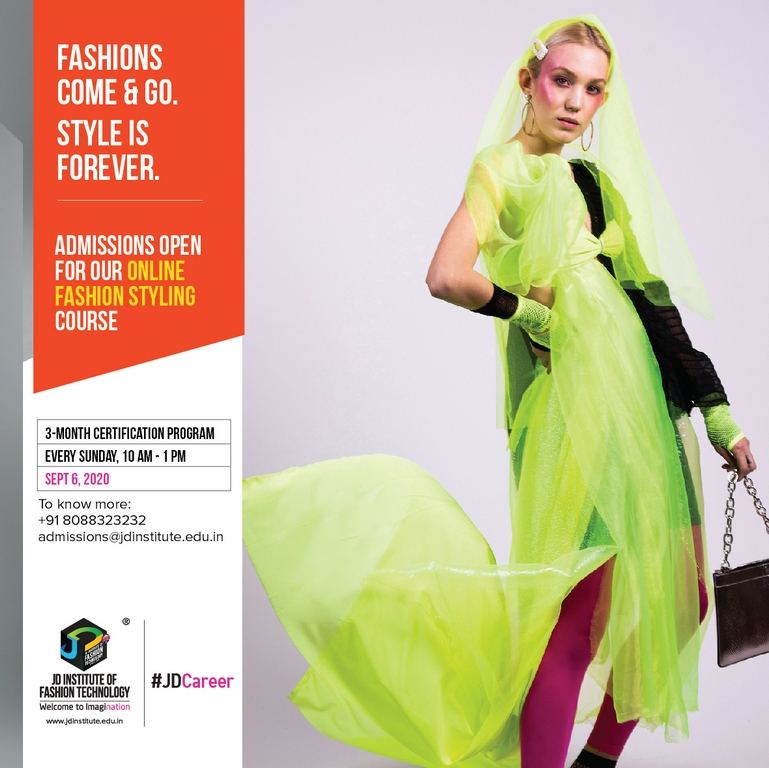 fashion - Fashion Styling sept6a - JD INSTITUTE OFFERS AN ONLINE CERTIFICATE PROGRAM IN FASHION STYLING